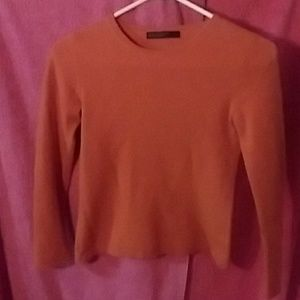 Lord & Taylor two ply Cashmere Orange top